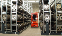 Mobile Tyre Racking